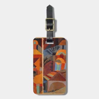 Colorful Cubism Paul Klee Abstract Bag Tag
