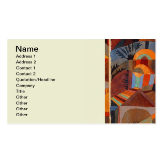 Colorful Cubism Paul Klee Abstract Business Card Templates