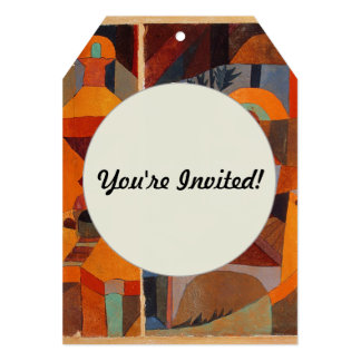 Colorful Cubism Paul Klee Abstract Card