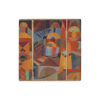 Colorful Cubism Paul Klee Abstract Stone Magnet