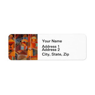 Colorful Cubism Paul Klee Abstract Return Address Labels
