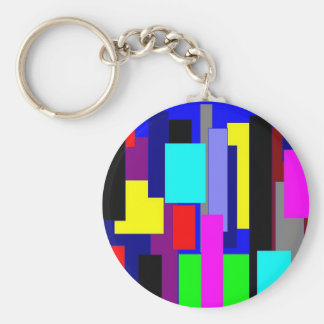 Colorful Cubist New York Keychain
