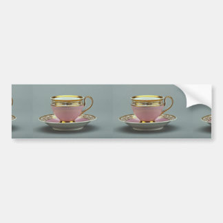 Colorful cup and saucer Berlin Germany Bumper Stickers