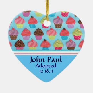 Colorful Cupcake Adoption Announcement Ornament