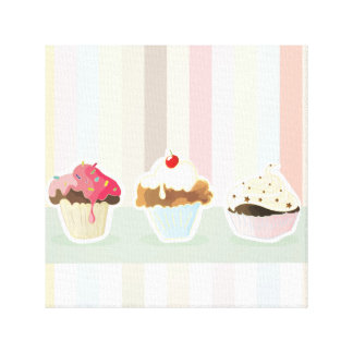 colorful cupcake canvas print