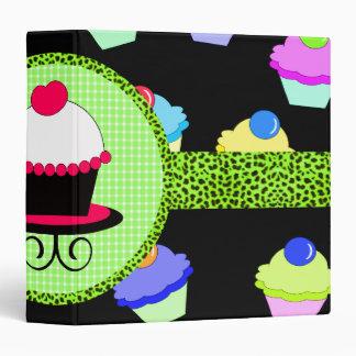 Colorful Cupcake Chaos 3 Ring Binder