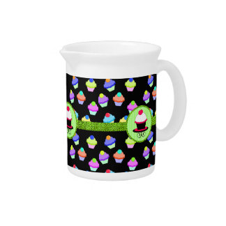 Colorful Cupcake Chaos Drink Pitchers