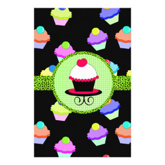 Colorful Cupcake Chaos Stationery