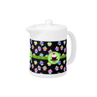 Colorful Cupcake Chaos Teapot