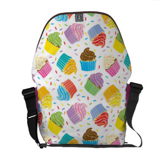 Colorful Cupcake Messenger Bag
