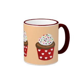 Colorful Cupcake Ringer Coffee Mug
