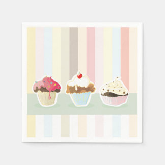 colorful cupcake napkin