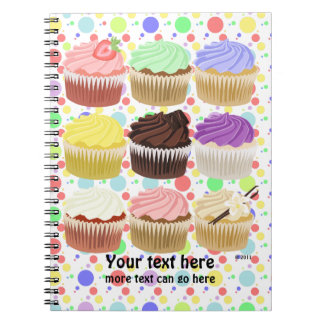 Colorful Cupcake Notebook