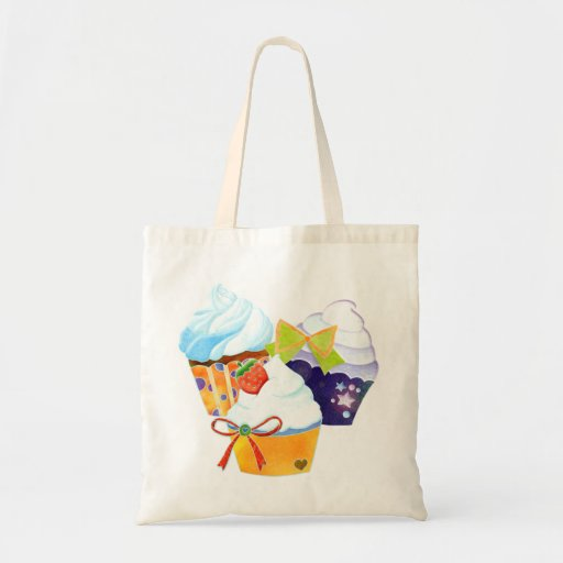 Colorful Cupcake Party Grocery Shopping Tote Bag