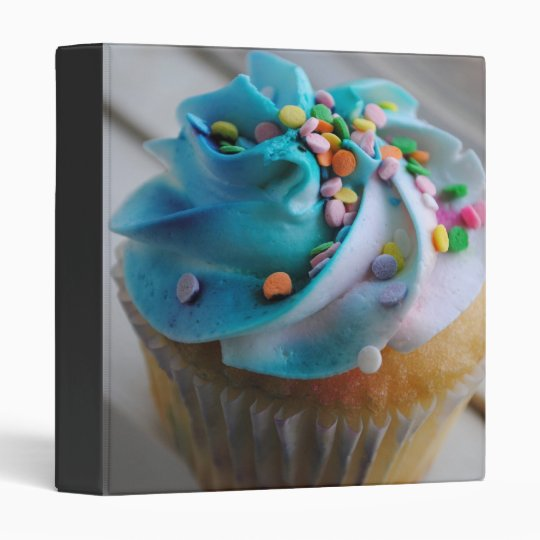 Colorful Cupcake Photograph Binder