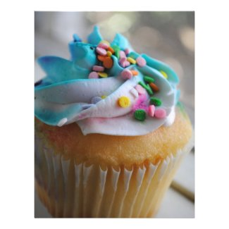 Colorful Cupcake Photograph Flyers