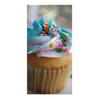 Colorful Cupcake Photograph Photo Cards