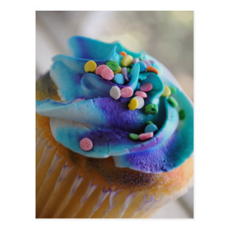 Colorful Cupcake Photograph Post Card