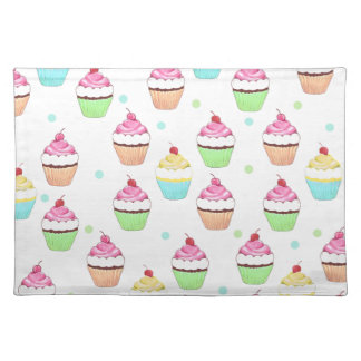 Colorful Cupcake Place Mat