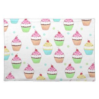 Colorful Cupcake Place Mat