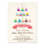 Colorful Cupcake Tree Bridal Shower Card