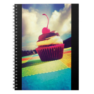Colorful Cupcake with Cherry on Top Notebook
