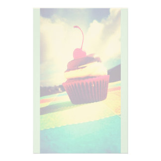 Colorful Cupcake with Cherry on Top Stationery