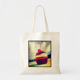 Colorful Cupcake with Cherry on Top Tote Bag