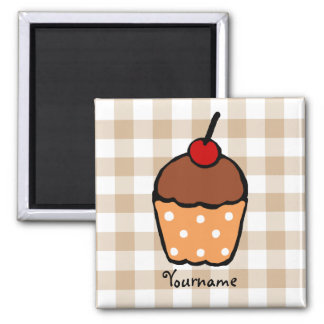 Colorful Cupcakes 2 Inch Square Magnet