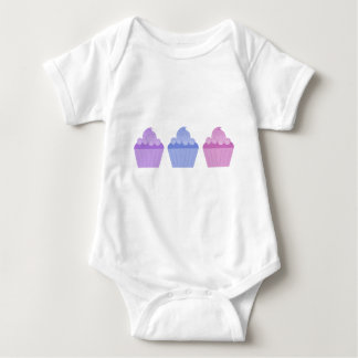 Colorful Cupcakes Baby Bodysuit