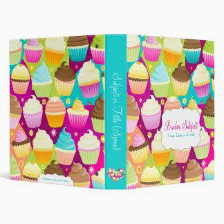 Colorful Cupcakes Vinyl Binders