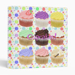 Colorful Cupcakes Binder