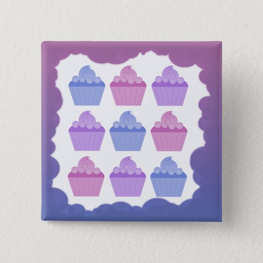 Colorful Cupcakes Button