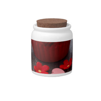 colorful cupcakes candy jars