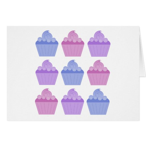 Colorful Cupcakes Cards
