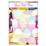 Colorful Cupcakes Dry Erase Whiteboard