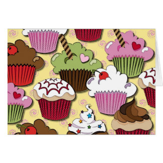 Colorful Cupcakes Gifts Apparel Collectibles Greeting Card