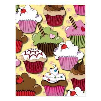Colorful Cupcakes Gifts Apparel Collectibles Postcard