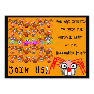 Colorful Cupcakes Halloween Party Invitation