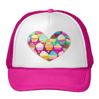 Colorful Cupcakes Heart Trucker Hat