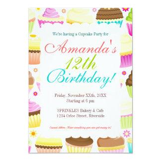Colorful Cupcakes 5x7 Paper Invitation Card