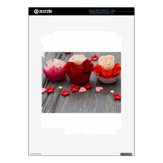 colorful cupcakes iPad 2 decals