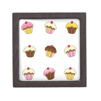 Colorful cupcakes keepsake box
