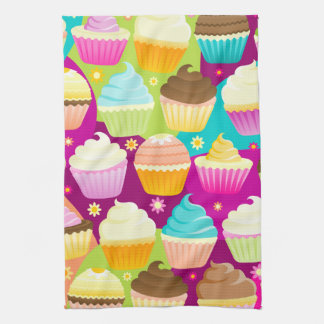 Colorful Cupcakes Kitchen Towels