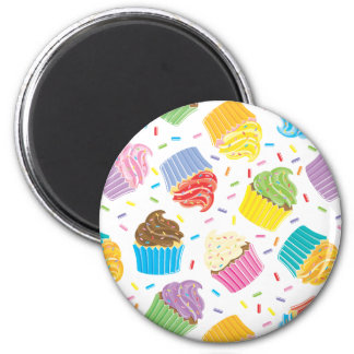 Colorful Cupcakes Fridge Magnets