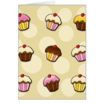 Colorful cupcakes pattern