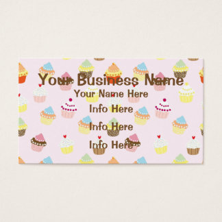 Colorful Cupcakes Pattern Business Card