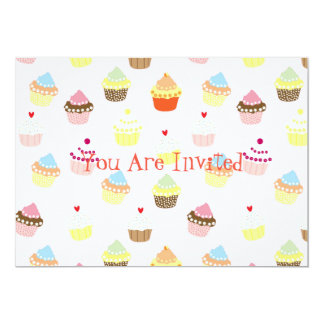 Colorful Cupcakes Pattern Card
