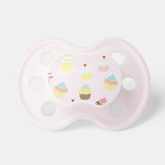Colorful Cupcakes Pattern Pacifier