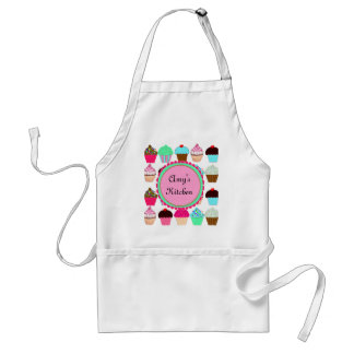 Colorful Cupcakes - Personalized Adult Apron
